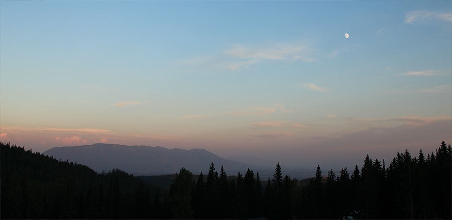 Sunset on Whitefish Mountain